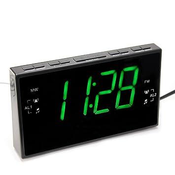 Radio despertador números grandes 5 cm - Lectura confortable y Apaisante -: Amazon.es: Hogar