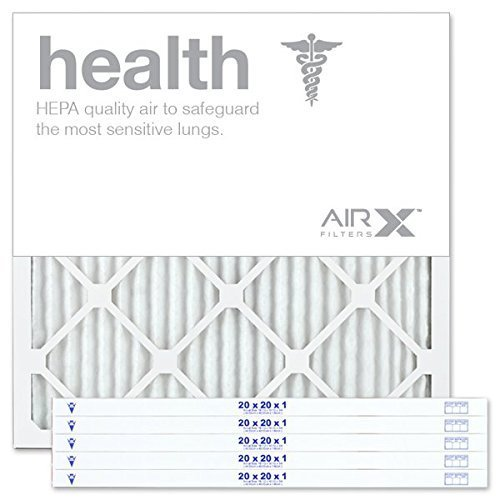 AIRx HEALTH 20x20x1 MERV 13 Pleated Air Filter - Made in the USA - Box of 6 (Cost To Replace 3 Ton Hvac System)