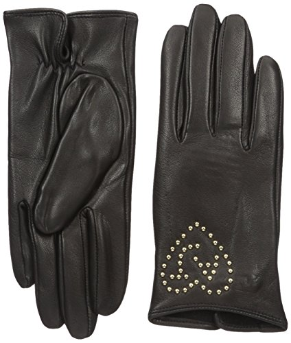 Armani-Jeans-Womens-Leather-Gloves-with-Heart-Aj-Studs