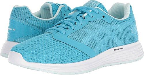 ASICS 1012A117 Women's Patriot 10 Running Shoe, Aquarium/Flash Yellow - 7.5