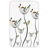 Rectangular Area Rug Mat Rug,Garden,Colorful Dandelions Stems Buds Leaves Bedding Plants Wildlife Meadow Cottage Theme,Multicolor,Home Decor Mat with Non Slip Backing