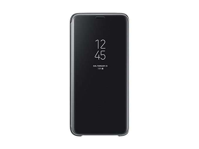separation shoes 025bf c7124 Samsung Galaxy S9 S-View Flip Case with Kickstand, Black - EF-ZG960CBEGUS