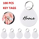 100PCS Round Key Tags with Split Ring, 200PCS White Labels