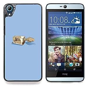 "Qstar Arte & diseño plástico duro Fundas Cover Cubre Hard Case Cover para HTC Desire 826 (Lápiz Grinder"")"