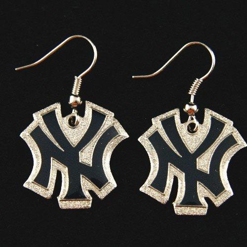 NY Yankees - MLB Team Logo Dangler Earrings