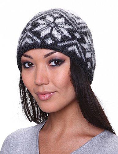 Winter Wool Hat Beanie Cap Knit Fair Isle Authentic Icelandic Wool ...