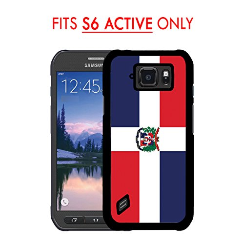 Dominican Republic Models (S6 ACTIVE - Dominican Republic Country Flag Simple Style Samsung GALAXY S6 Active (SM-G890) 2015 MODEL Hard Plastic Phone Case - FITS S6 ACTIVE ONLY!)