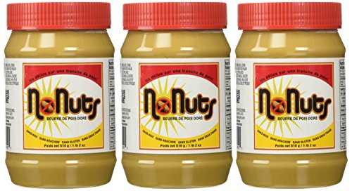 NoNuts Golden Peabutter, Gluten and Nut Free Spread, 18 ounce (Pack of 3) ()