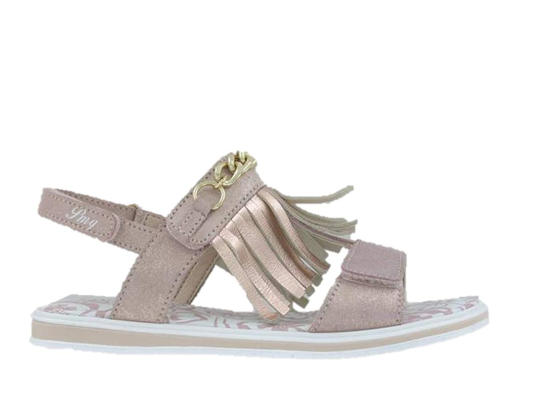 Primigi 3434811 Girl Leather Sandals with Double Pink Fringe Fringe Made in Italy