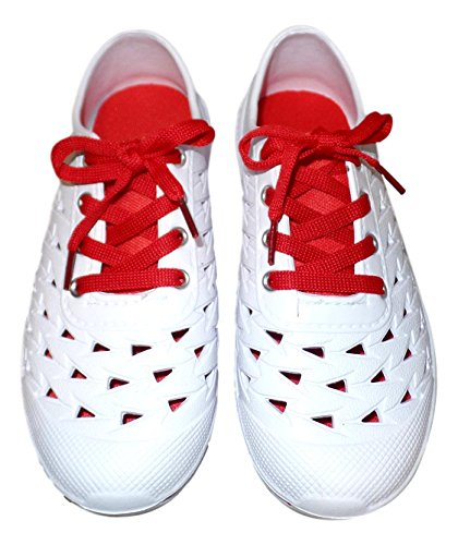 101 BEACH Ladies Sneaker Style Closed Cell Foam Water Shoes Size (6-11) Red