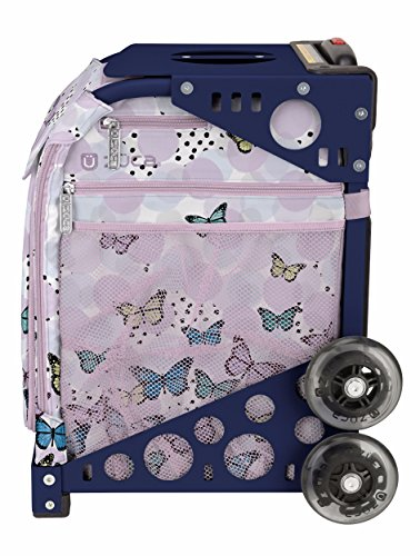 Zuca Wild & Free Sport Insert Bag and Navy Blue Frame with Flashing Wheels by ZUCA (Image #2)