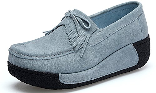 Shoes Sneakers YZHYXS Flats Platform Grey Comfort Shoes On Slip Casual 12 Women Wedge EXqUxTqR