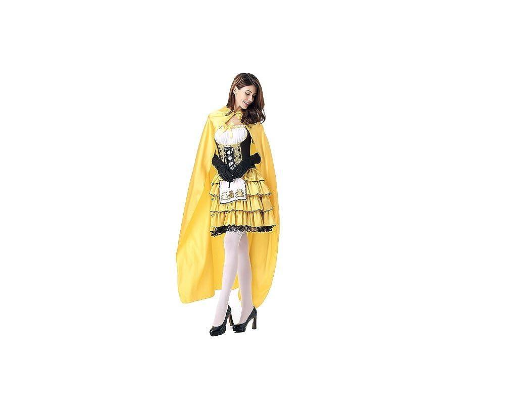 GGTBOUTIQUE - Robe - Trapèze - Femme Jaune Jaune