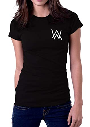 90db63f8e Alan Walker AW Logo Faded Spectre Women's T-Shirt at Amazon Women's Clothing  store:
