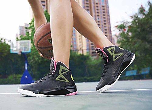 Männer Basketball Trainer 2017 Neue Dämpfung Atmungsaktive Laufschuhe High Top Outdoor Sport Wandern Schuhe Schwarzes Rosa