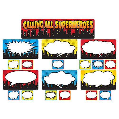 Teacher Created Resources Calling All Superheroes Mini Bulletin Board (5825) (Superhero Decorations)