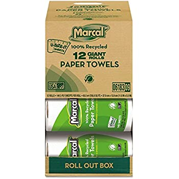 Premium Recycled Giant 2-Ply Paper Towels - 140 Sheets per Roll