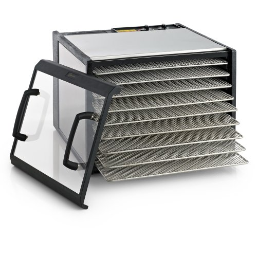 9 tray clear door stainless