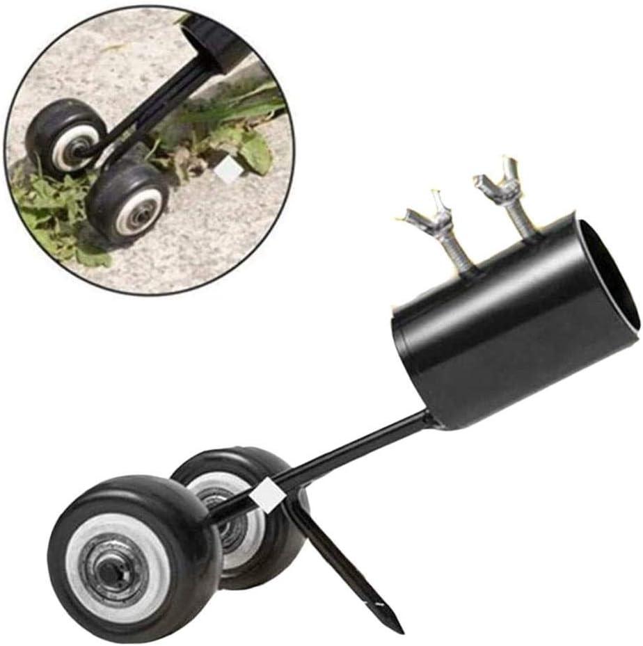 Extractor de malezas y desmalezadoras de pie, desmalezadora con rueda Herramienta extractora de malezas con cortadora de césped de mango largo Máquina para cortar hierbas