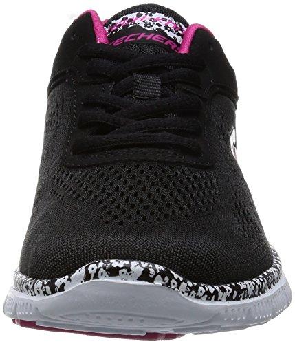 Skechers - Flex AppealIsland Style, Sneakers da donna, nero (bkw), 35