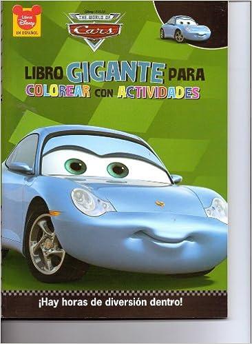Libro De Colorear Coches Sallycars Sally Coloring Book Disney 96