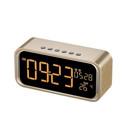 Amazon.com: Dual alarms digital with bluetooth speaker ...