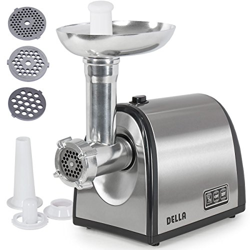 della-048-gm-48214-1000w-electric-meat-grinder-kubbe-attachment-with-3-blade-silver-small