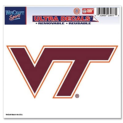 """WinCraft NCAA Virginia Tech Multi-Use Colored Decal, 5"""" x 6"""": Sports & Outdoors"""