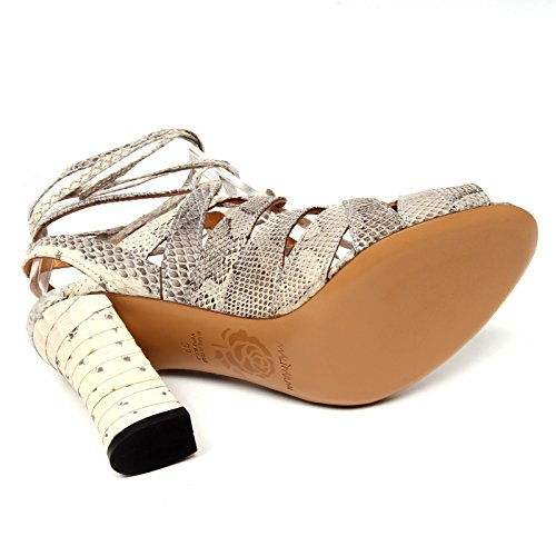 Woman Donna In Sandalo Beige Scarpe Maliparmi Shoe Whips D0752 Volute Rzq6EOw