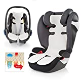 Atmungsaktive Universal Sommer-Sitzeinlage / Sitzauflage für Auto-Kindersitze und Babyschalen | verringert Schwitzen Ihres Kindes - kühlt durch Luftzirkulation | ideale Alternative zum Sommerbezug | PREMIUM QUALITÄT