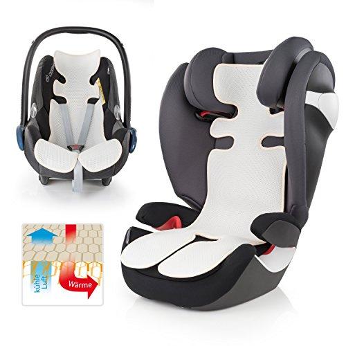 Atmungsaktive Universal Sommer-Sitzeinlage / Sitzauflage für Auto-Kindersitze und Babyschalen   verringert Schwitzen Ihres Kindes - kühlt durch Luftzirkulation   ideale Alternative zum Sommerbezug   PREMIUM QUALITÄT