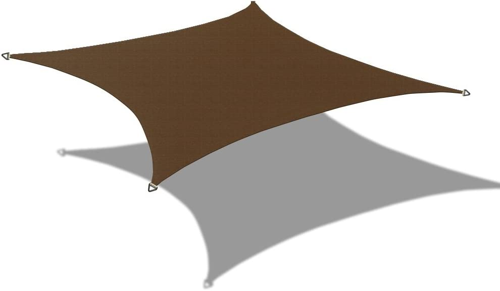 Alion Home Custom Sizes 180GSM HDPE UV Block Sun Shade Sail Permeable Canopy for Pool Outdoor Patio Garden (4' x 10', Brown)