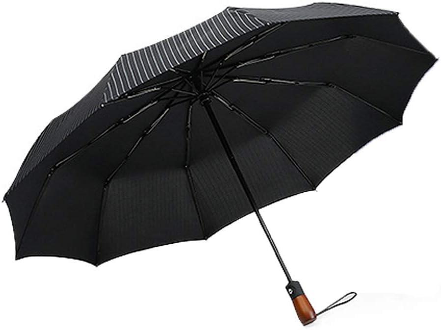 ZHANGYY Travel Umbrella Folding Umbrella Handle Automatic Opening and Closing Three Fold Simple Ten Bone Windproof Double Layer Umbrella Creative Automatic Folding Umbrella
