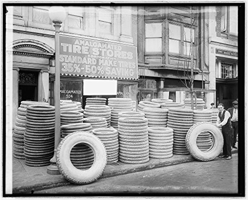 Vintography 8 X 10 Reprinted Old Photo Of Amalgamated Tire Store  Front 1921 National Photo Co 20A