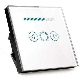 Interruptor regulador de luz led de 500W con pantalla de cristal templado tá