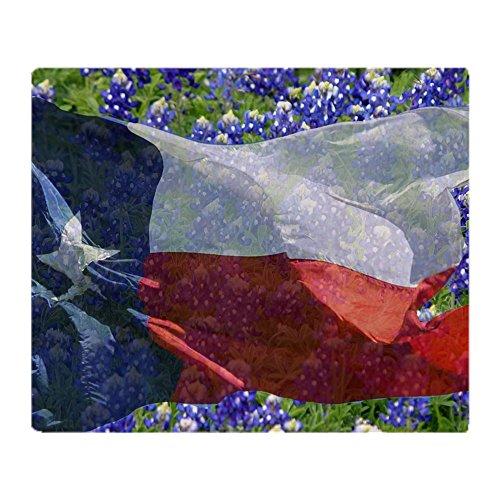 CafePress Texas Flag Bluebonnet Card Soft Fleece Throw Blank