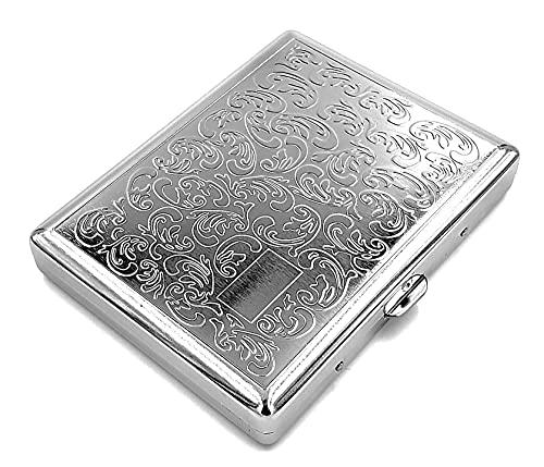estuche de metal vintage para cigarrillos Silver Boteh L