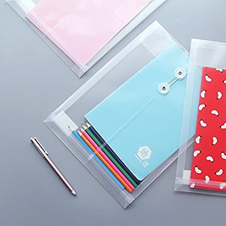 acqua // resistente allo strappo-traslucido set di 10 Formato lettera // A4 Zoohot lettera Size Poly String Busta con espandibile Tassello