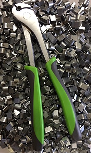 Best J-Clip Pliers + 2 LBS of J-Clips, Comfort Green for sale  Delivered anywhere in USA