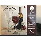 borgonovo aerating wine glass 22oz set of six