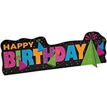 "Neon Birthday Centerpiece Decoration, 14"" x 4.5"""