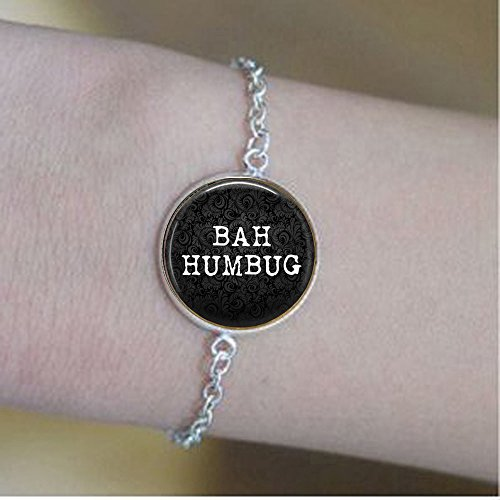 BAH Humbug Bracelets - Funny Christmas Quote Jewelry -