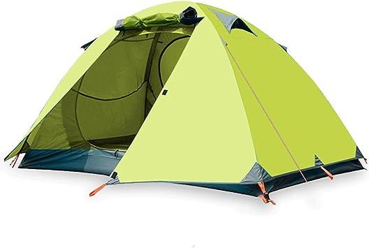 QAR Tienda De Acampar Al Aire Libre Doble Camping Salvaje Par Camping Turismo Camping Salvaje Anti-Temporal Tienda De Campaña Conjunto Tiendas de campaña: Amazon.es: Deportes y aire libre
