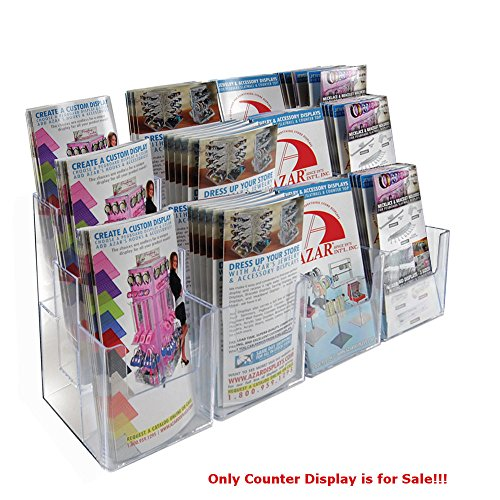 2 Pc Clear 12 Pockets 3 Tier Tri-Fold Brochure Counter Display 27