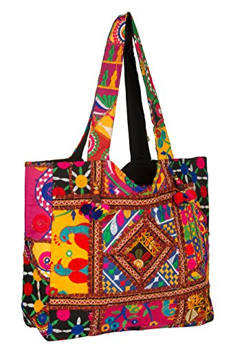 Quilted Tote Bag With Pockets - 4