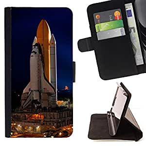 Space Rocket Launch Ship Nasa Flight Tecnology - Painting Art Smile Face Style Design PU Leather Flip Stand Case Cover FOR LG Nexus 5 D820 D821 @ The Smurfs
