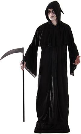 Para hombre Grim Reaper Muerte Scream Ghost Halloween Disfraz ...