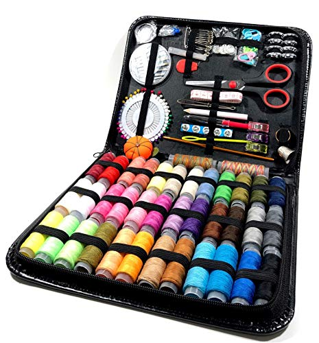 A-Z amazing Sewing Kit, 182 Premium Sewing Supplies, Quality Soft Packaging Elegant Colors Ideal for Travelers Adults Kids Beginner Emergency DIY and Home,38 XL Thread Spools Premium.