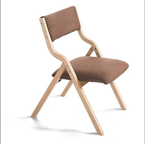 Amazon.com: Plegar silla de sillas plegable de madera simple ...