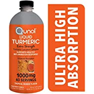 Qunol Liquid Turmeric Curcumin with Black Pepper 1000 Milligram, Anti-Inflammatory, Dietary Supplement, Extra Strength, 40 Day Supply, 40 Servings … (40 Day Supply)